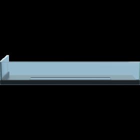 Стекло для камина <br> Delta 70 левый угол
