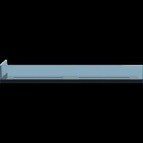 Стекло для камина <br> Delta 90 левый угол