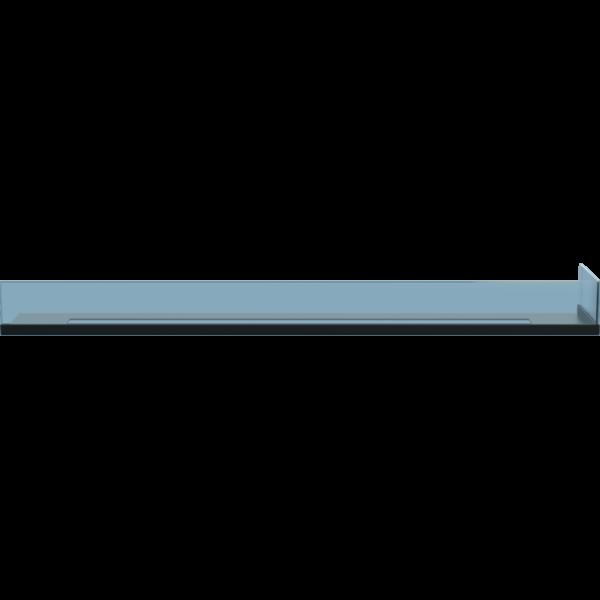 Стекло для камина <br> Delta 120 правый угол