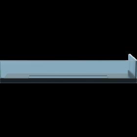 Стекло для камина <br> Delta 90 правый угол