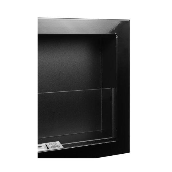 Биокамин NiceHouse 3D со стеклом <br> 120х40 черный глянец