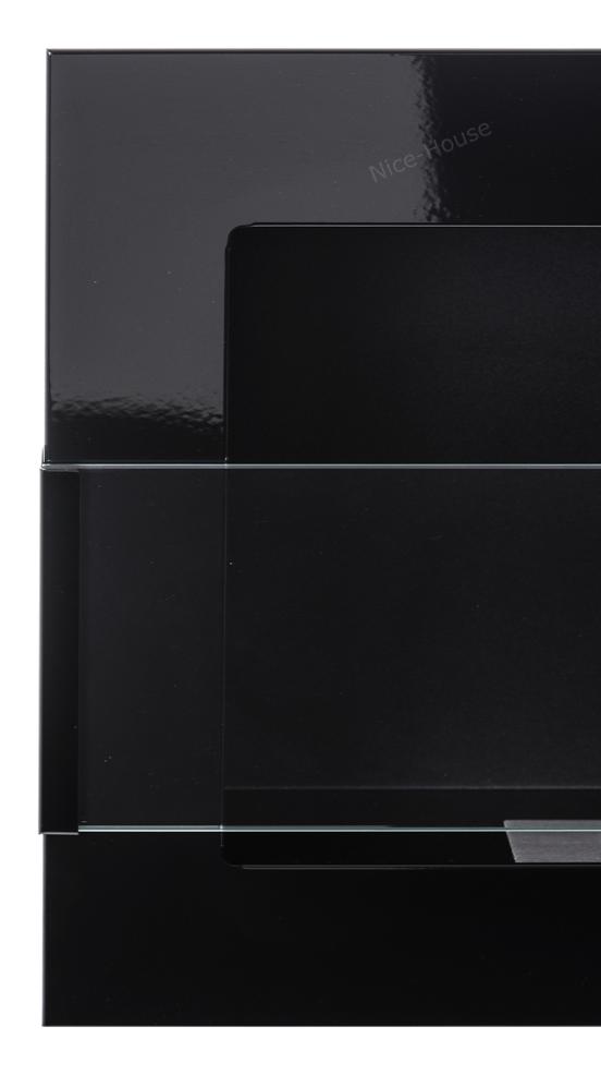 Биокамин NiceHouse со стеклом <br> 65х40 черный глянец