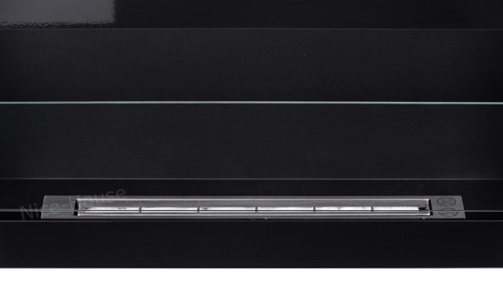 Биокамин NiceHouse со стеклом <br> 90х40 черный глянец