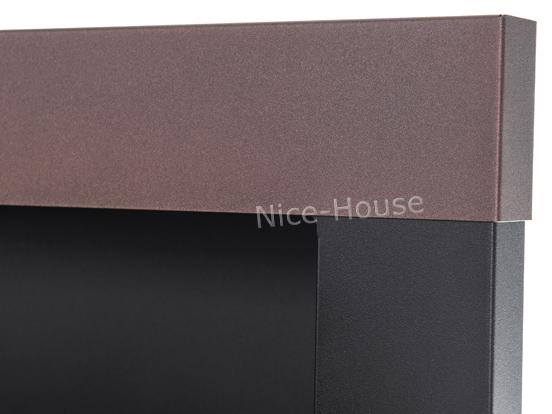 Биокамин NiceHouse со стеклом<br> 90х40  коричневый