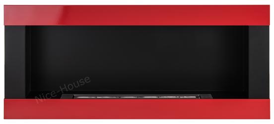 Биокамин NiceHouse <br> 90х40 H-line красный