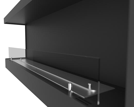 Биокамин Corner 120 см <br> левый угол со стеклом