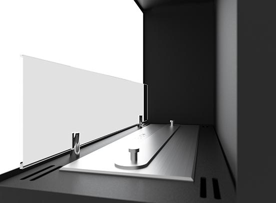 Биокамин SFire Corner 60 см<br> правый угол со стеклом