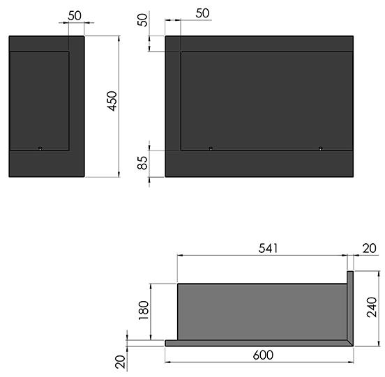 Биокамин SFire Corner <br>60 см левый угол