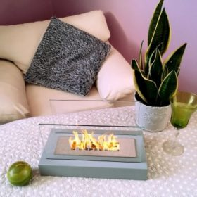 Биокамин NHouse <br> Home серый