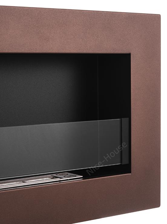 Биокамин NiceHouse со стеклом <br> BOX 90х40 коричневый