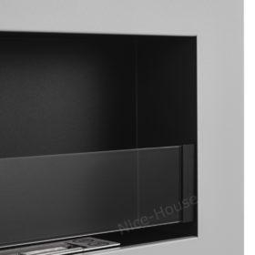 Биокамин NiceHouse со стеклом <br> BOX 90х40 серый