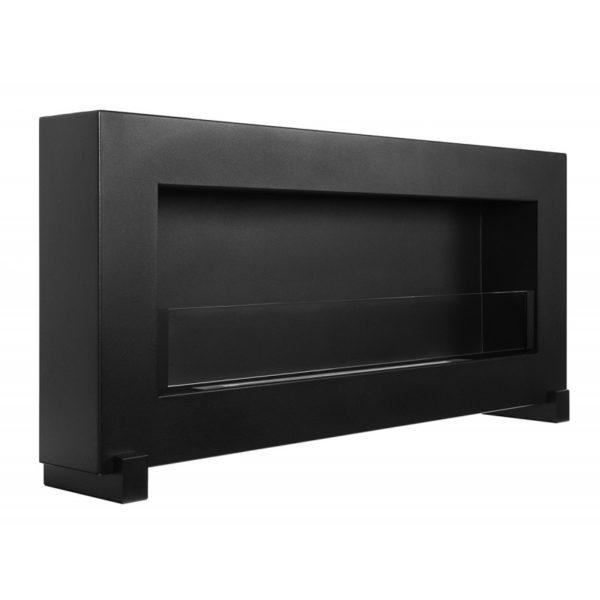Биокамин NiceHouse BOX со стеклом <br>  90см на пол черный