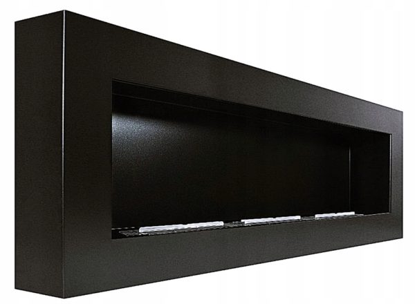 Биокамин NiceHouse BOX  <br> 120 см черный со стеклом